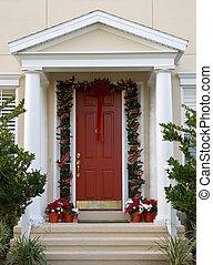 deur, kerstmis