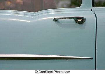 deur, oud, auto