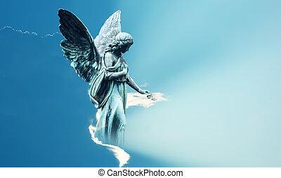 deus, céu, mágico, anjo, inspiração