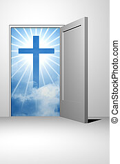deus, entrada, céu