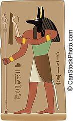 deus, símbolo, vetorial, egípcio