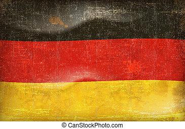 deutsch, grunge, fahne