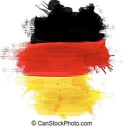 deutsch, landkarte, fahne, grunge, deutschland