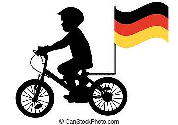kinder fahne fahrrad