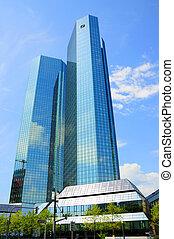Deutsche Bank Skyscrapers, Frankfurt am Main, Hessen,...