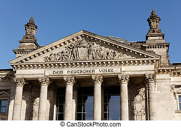 Deutscher Bundestag in Berlin Germany