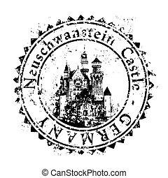 deutschland, abbildung, freigestellt, ikone, vektor, ledig