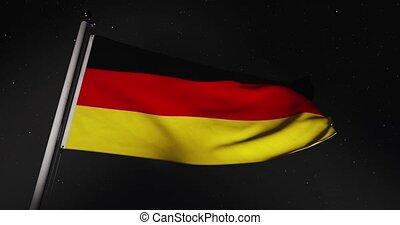 deutschland, banner, bewegung, vertritt, deutsch, video,...
