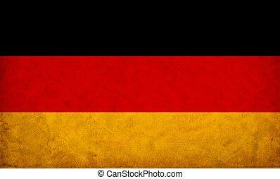 deutschland, grunge, fahne