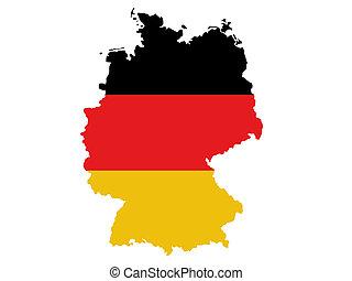 deutschland, landkarte
