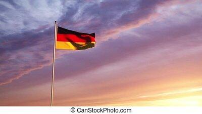 deutschland, vertritt, deutsch, video, fahnenstange, fahne,...