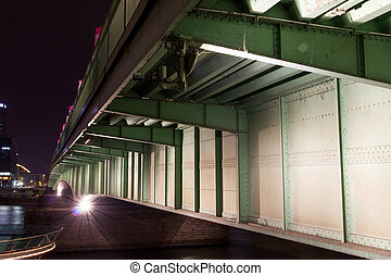 deutzer bridge of cologne at night