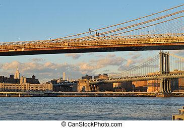 deux, bridges.