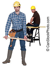 deux, charpentiers