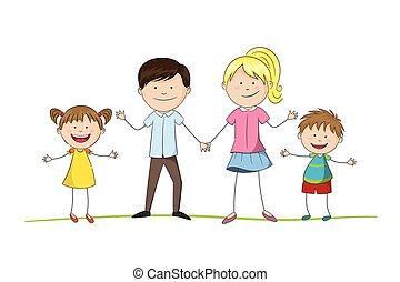 deux enfants, famille, jeune