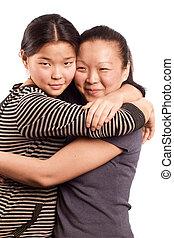 deux, femme asiatique