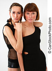 deux femmes, portrait