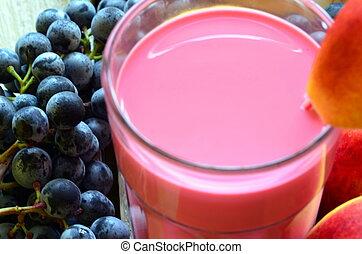 deux, fruit frais, smoothies