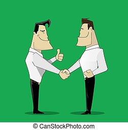 deux, gai, homme affaires