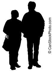 deux, gens âgés