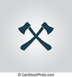 ic ne abattu arbre style dessin anim abattu symbole arbre style illustration dessin. Black Bedroom Furniture Sets. Home Design Ideas