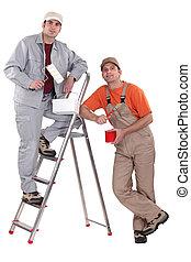 deux, painters.