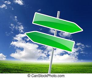 deux, panneaux signalisations