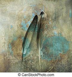 deux, plumes