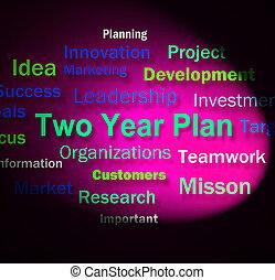 deux, suivant, planification, plan, mots, année 2, années, spectacles
