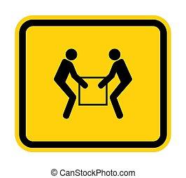 deux, usage, symbole, ascenseur, illustration, signe, personne, blanc, isoler, eps.10, fond