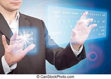 deux, virtuel, clavier