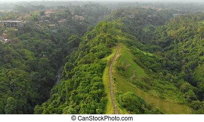 deux, walkway, promenade, ubud, ravins, village, -, arête, ...