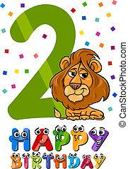 deuxième anniversaire, conception, dessin animé