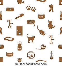 devítiocasá kočka, muchlat se, věc, jednoduchý ikona, seamless, model, eps10