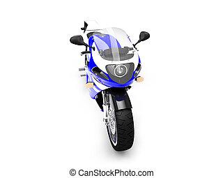 devant, 03, motocyclette, isolé, vue
