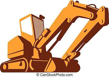 devant, bulldozer, retro