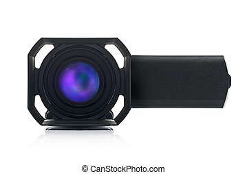devant, caméscope, handycam, vue