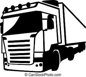 devant, camion