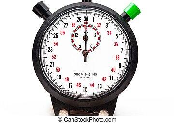 devant, chronomètre, vue