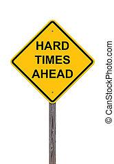 devant, dur, -, signe, prudence, temps