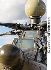 devant, hélicoptère, attaque, militaire