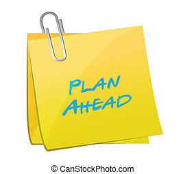devant, illustration, conception, plan, poste, message