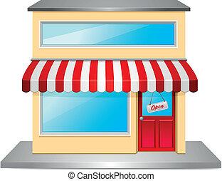 devant, magasin