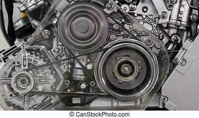 devant, moteur voiture, vue
