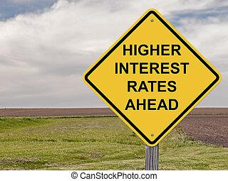 devant,  -, prudence, intérêt, taux, plus haut
