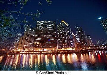 devant, rivière, chicago