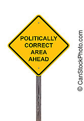 devant, secteur, -, signe, prudence, politically, correct