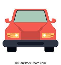 devant, voiture, vue, véhicule
