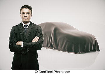 Developer presenting new car