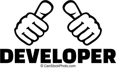 Developer with thumbs
